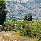 Women on road-Burundi by Bryn