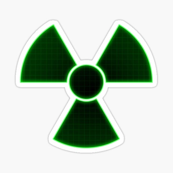 Green Radioactive Sign Sticker