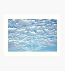 Beautiful fluffy clouds. Art Print