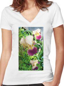 My Backyard Iris Women's Fitted V-Neck T-Shirt