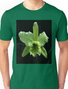 Green Cattleya Orchid Unisex T-Shirt