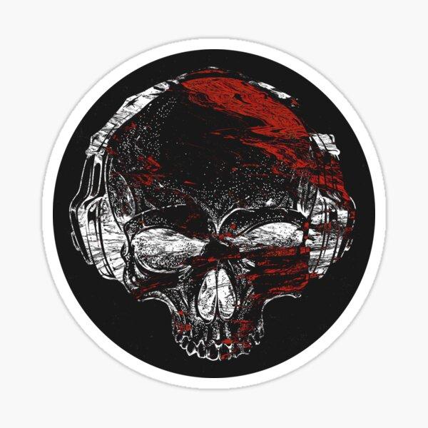 Glitch Skeleton Art Sticker