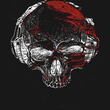 Glitch Skeleton Art by kaespo