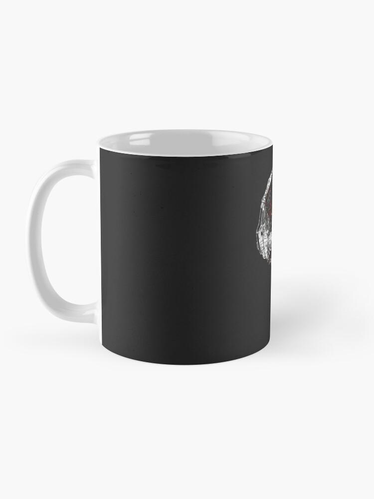 Alternate view of Glitch Skeleton Art Mug