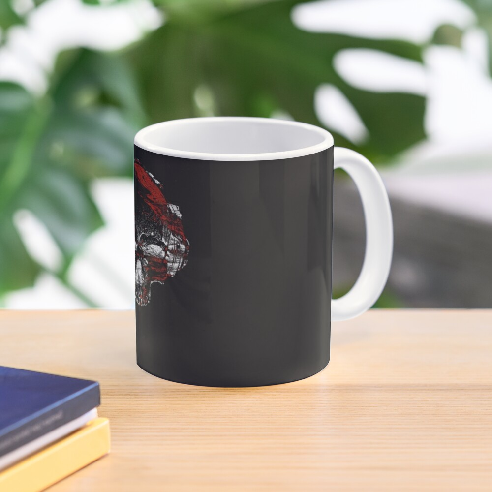Glitch Skeleton Art Mug