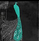 Art Nouveau Peacock Teal by mindydidit