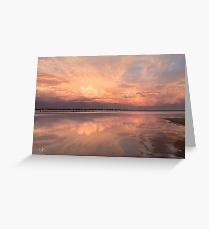 Lake Brown Reflections Greeting Card