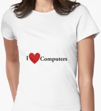 I Heart Computers Women's Fitted T-Shirt