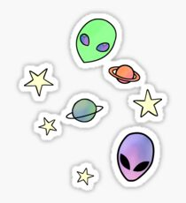 Cute Space Things Sticker