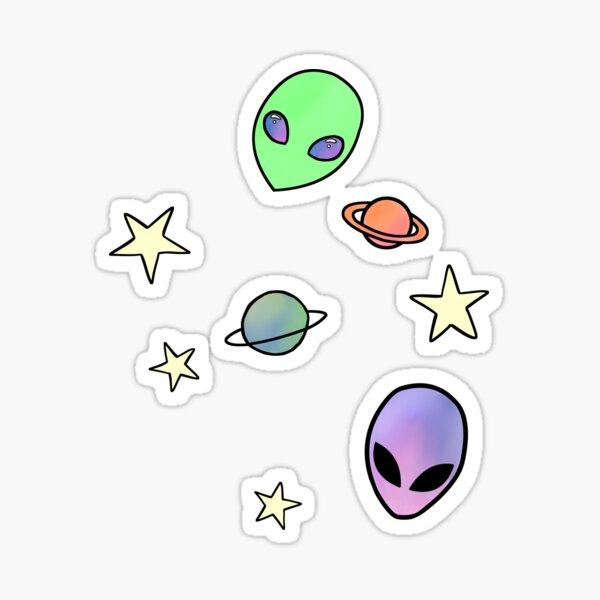 Cute Space Things Sticker