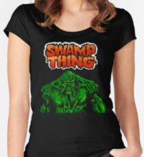 Swamp Thing (Nes) Title Screen Women's Fitted Scoop T-Shirt