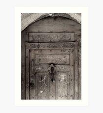 Inscribed door Art Print