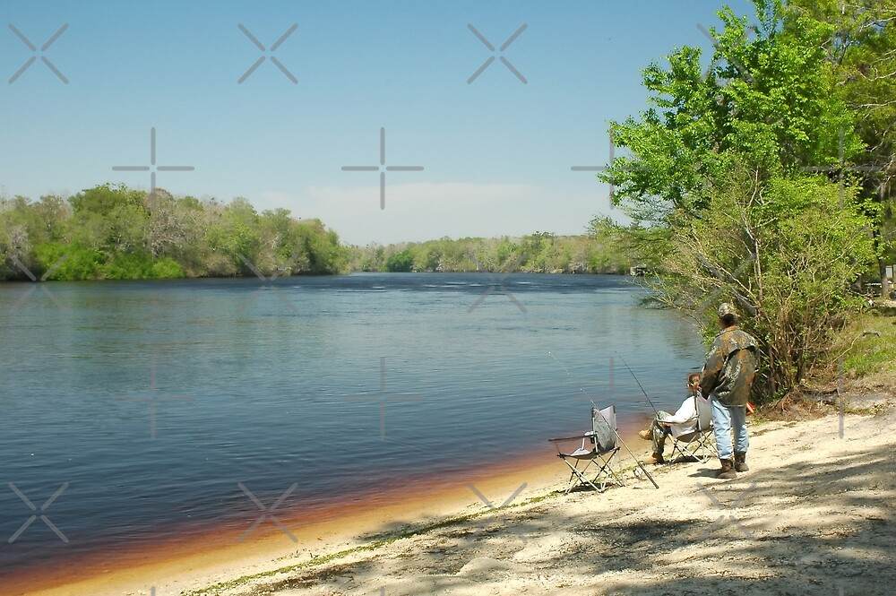 Bank Fishing on the Suwannee River by Stacey Lynn Payne