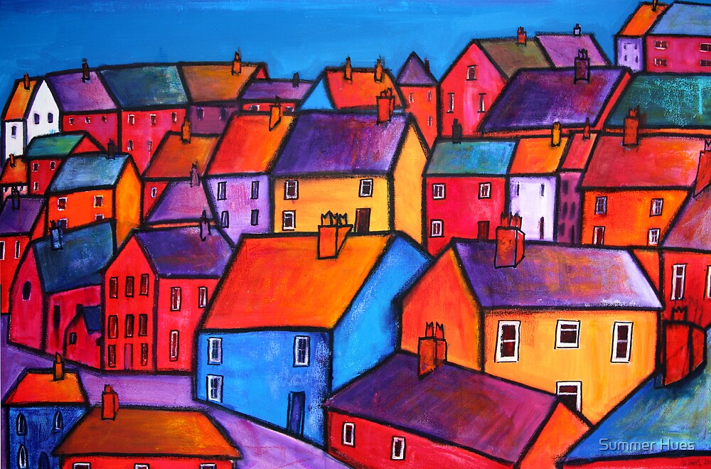 Coloured houses by Summer Hues