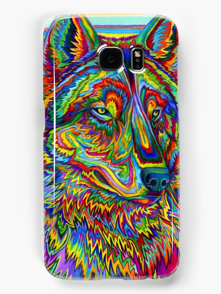 Psychedelic Wolf by Rebecca Wang