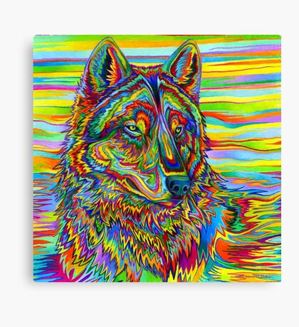 Psychedelic Wolf Canvas Print