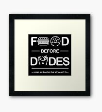 Official Chris Crocker - Food Before Dudes Shirt Framed Print