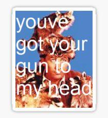 taking back davy - gun Sticker