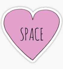 I Love Space Sticker