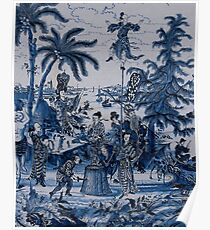 17th Century Delftware Chinoiserie Poster