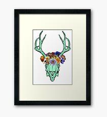 Deer Skulls and Flower Crowns Framed Print