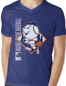 New York Mets Mens V-Neck T-Shirt