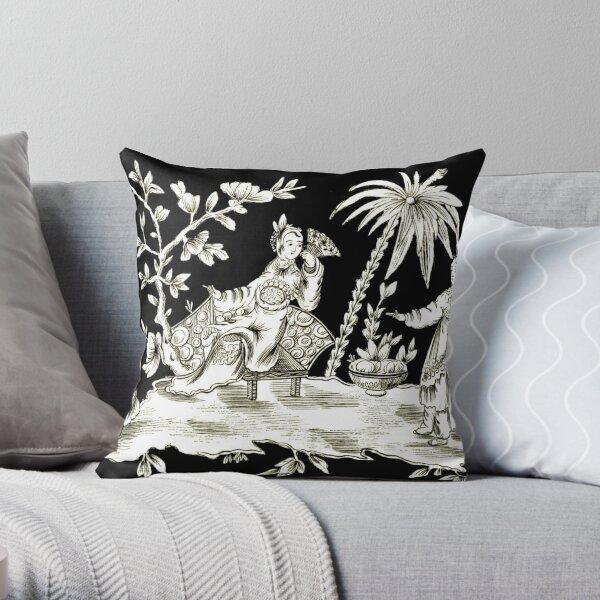 Black & White Chinoiserie Throw Pillow