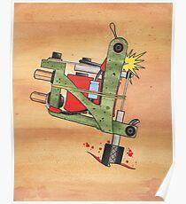 Jonesy Tattoo Machine Poster