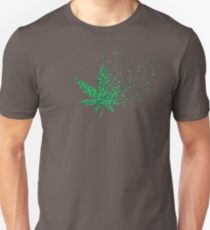 Digital Medical Marijuana Weed Leaf Dissolving  T-Shirt