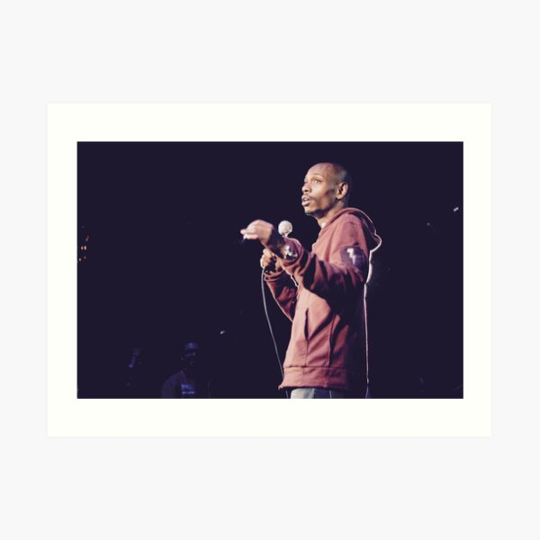 Dave Chappelle On Stage Art Print