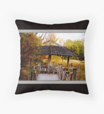 The Little House on the Prairie (card) Throw Pillow