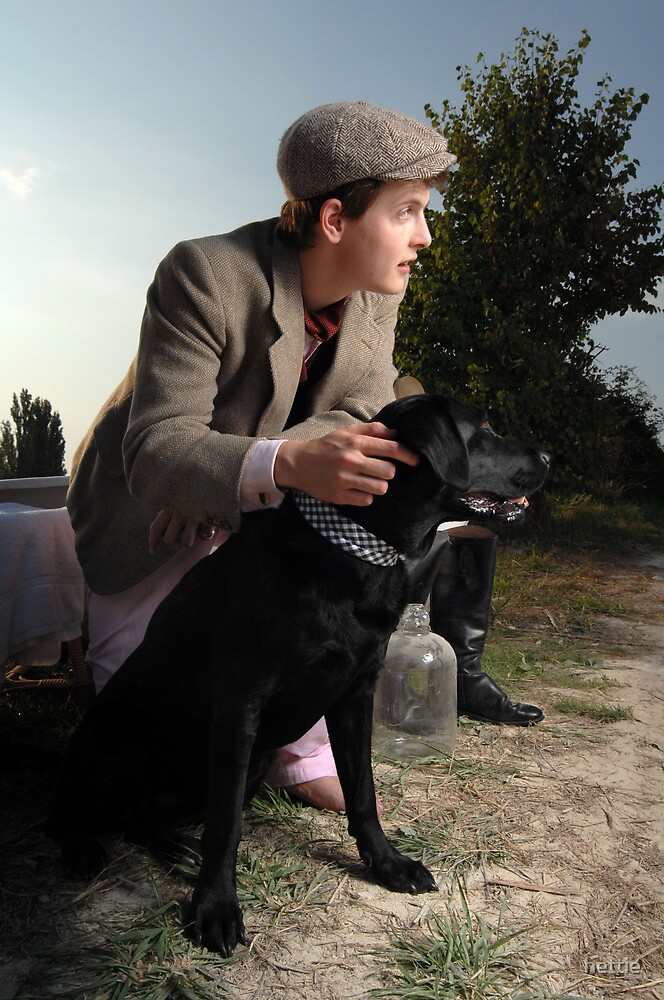 Man and his dog by hettie