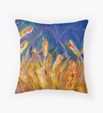 Golden Harvest (cropped detail) Throw Pillow