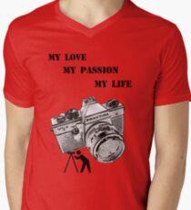 Photography T-Shirt Men's V-Neck T-Shirt