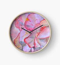 Peachy begonia Clock