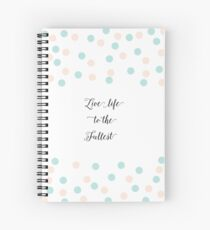 Polka Dots Pastel Color Cute Pattern Spiral Notebook