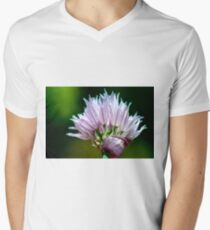 Chives Flower Men's V-Neck T-Shirt