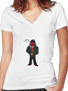 GOOD DAY, SIR! Women's Fitted V-Neck T-Shirt