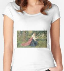 George Dunlop Leslie - Matilda - Dante, Purgatorio Women's Fitted Scoop T-Shirt
