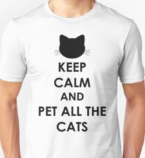 Keep Calm and Pet All The Cats T-Shirt