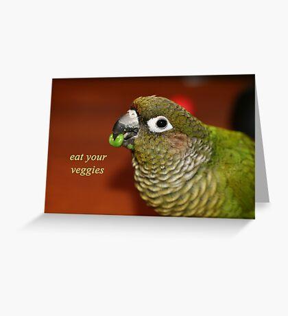 Eat your Veggies Greeting Card