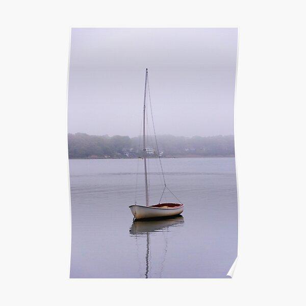 Sailboat in Fog Poster