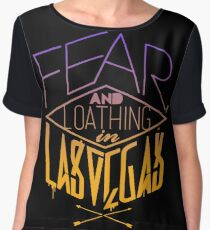 Fear, and Loaghing in Las Vegas Band Logo Chiffon Top