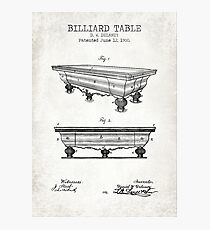 Billiard Table Photographic Print