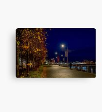Along The River Clyde Canvas Print