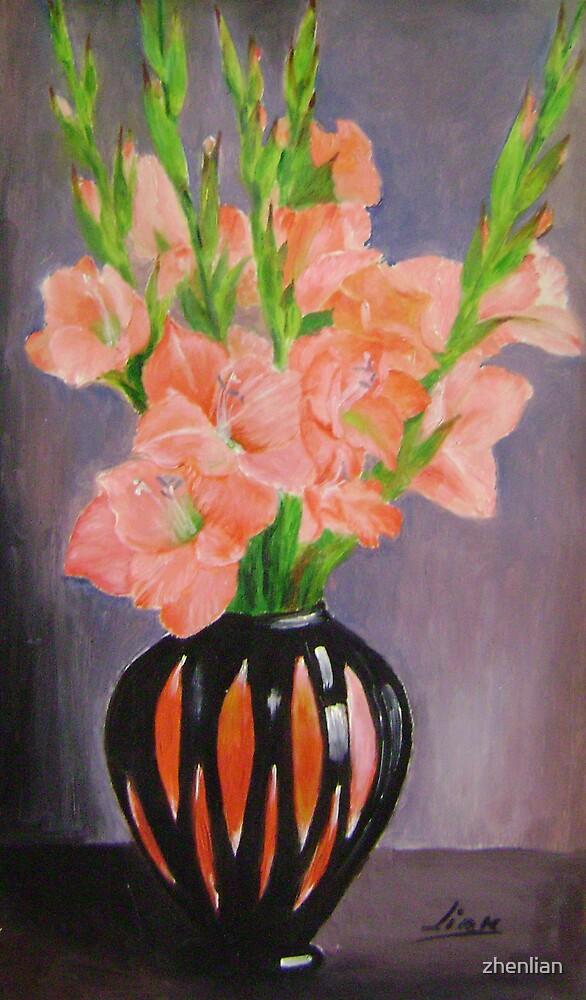 striped vase by zhenlian