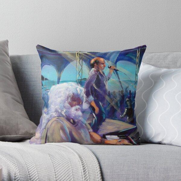 Brian Cadd-Glen Shorrock Airlie Beach Music Festival Throw Pillow