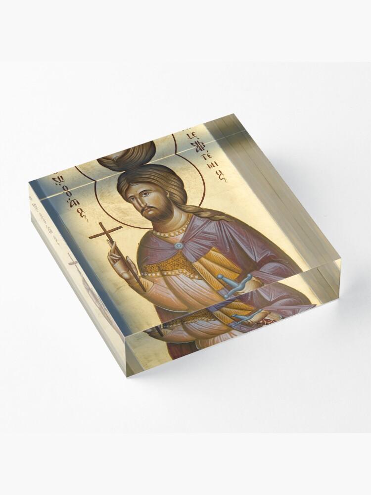 Alternate view of St Artemios Acrylic Block