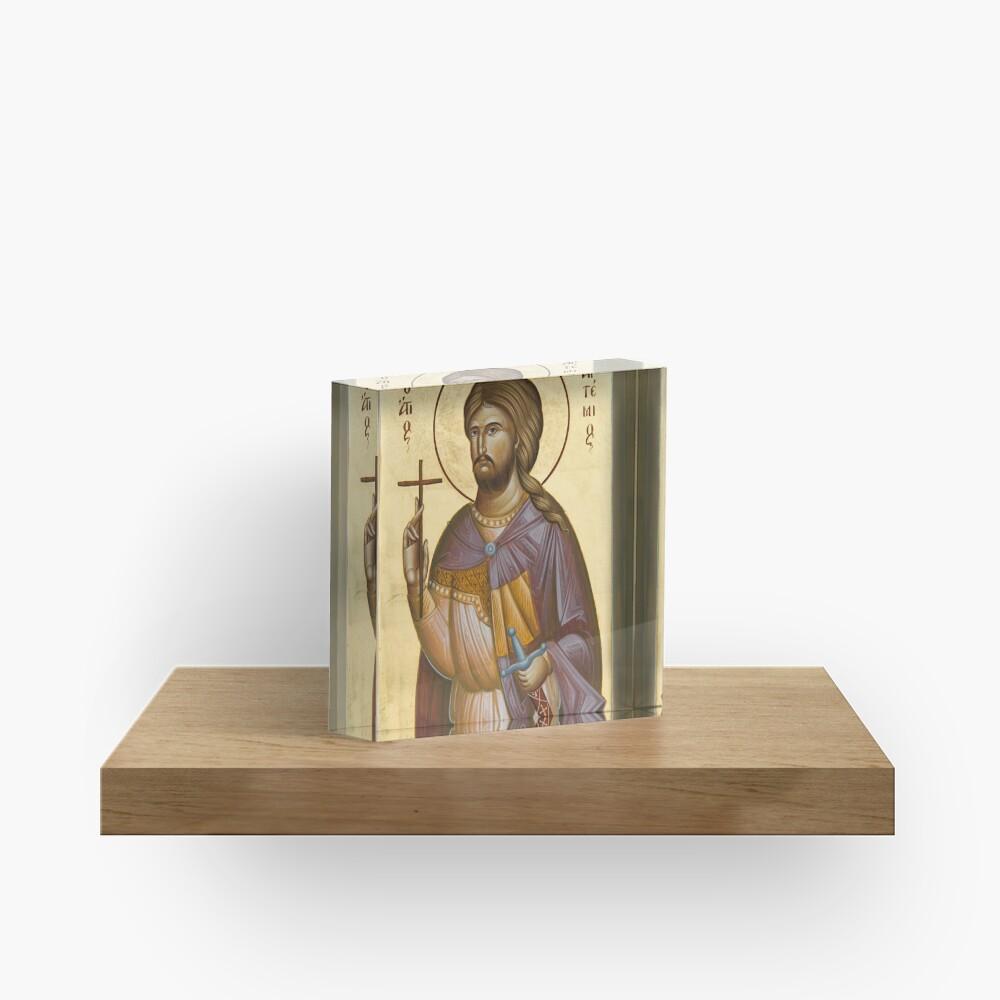 St Artemios Acrylic Block
