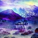 Abstract Winter Lake by Jacqui Frank
